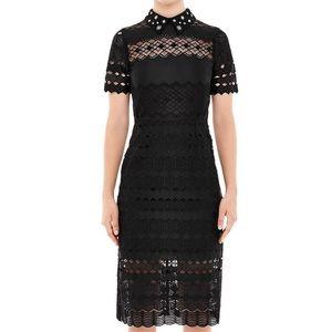 Sandro Black Lace Radiance Dress